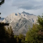 Banff: View of The Rockies from near my campsite